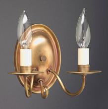 Northeast Lantern 129-AB-LT2 - Wall Sconce 2 J-Arm Antique Brass 2 Candelabra Sockets