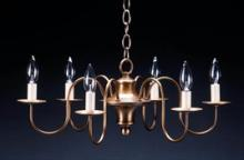 Northeast Lantern 900-AB-LT6 - Hanging S-Arms Antique Brass 6 Candelabra Sockets
