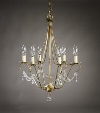 Northeast Lantern 929-AB-LT6 - Hanging Antique Brass 6 Candelabra Sockets