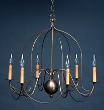 Northeast Lantern 940-AB-LT6 - Hanging Bird Cage Arms Antique Brass 6 Candelabra Sockets