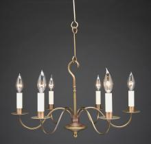 Northeast Lantern 982-AB-LT6 - Hanging S-Arms Antique Brass 8 Candelabra Sockets