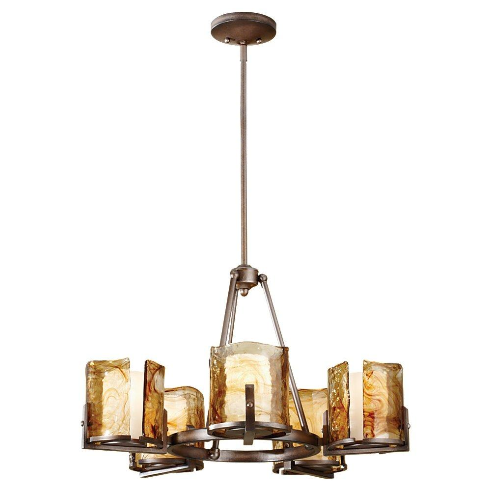 5 light single tier chandelier f26895rbz the lighting center 5 light single tier chandelier aloadofball Images